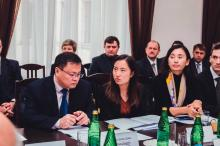 Chinese delegation participants of meeting China & Russia