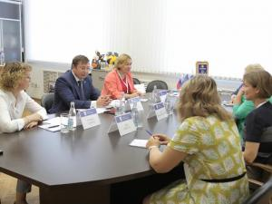 Meeting with the rector of VSU