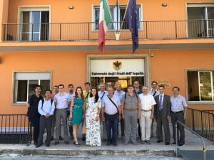 Colleagues from five russian and two chinese universities took part at the workshop of Erasmus+ project INSPIRE in L'Aquila (Italy)